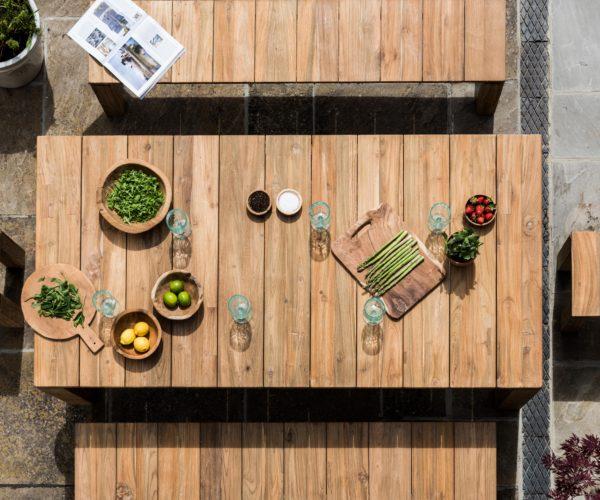 Reclaimed Teak Fortema Outdoor Table