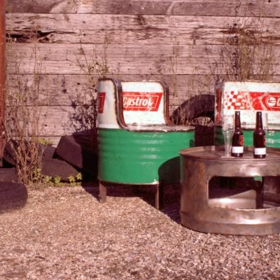Oil Drum Outdoor Seating