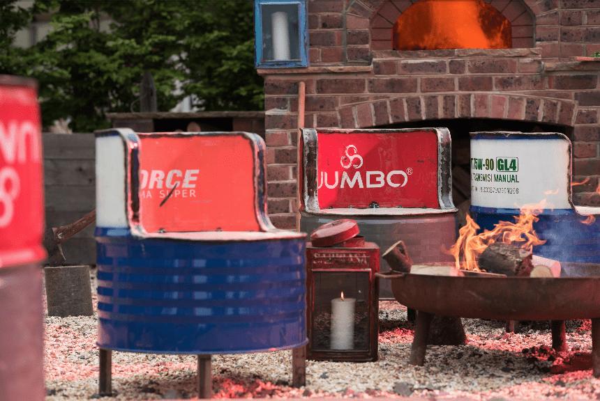 Oil Drum Outdoor Seats