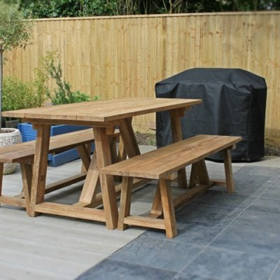 Reclaimed Teak Andreas Outdoors Dining Table.