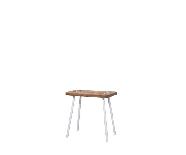 Reclaimed Teak Contour Stool Rectangle