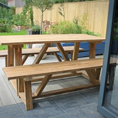 Reclaimed Teak Outdoor Table