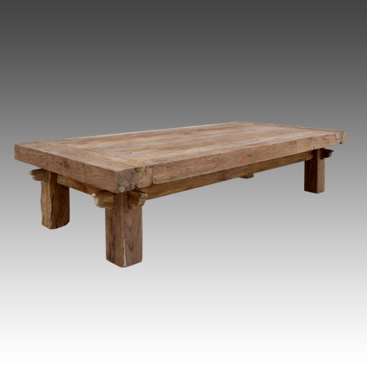 Reclaimed teak quattro rustic coffee table blubambu Coffee tables rustic