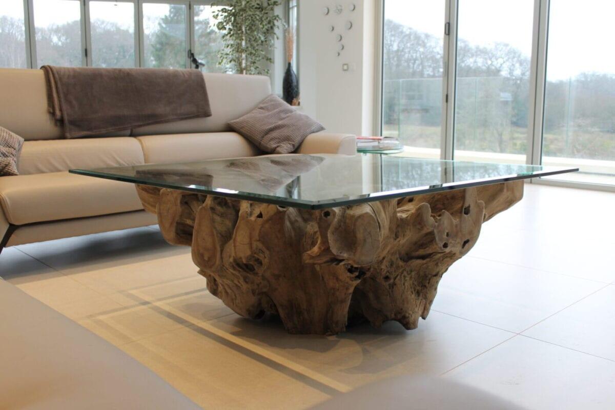 Teak Root Coffee Table • BluBambu
