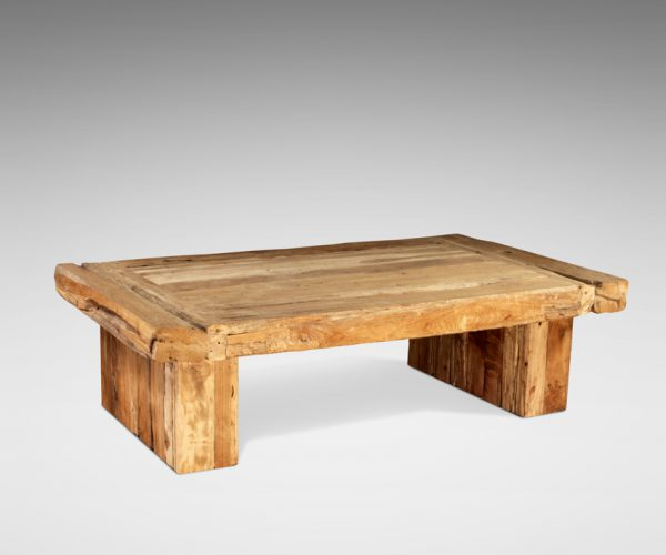 Reclaimed Teak Rustic Coffee Table Dois Rustic Frame 140x70x40cm
