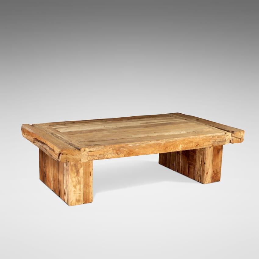 Reclaimed teak dois coffee table blubambu for Table 140 x 70