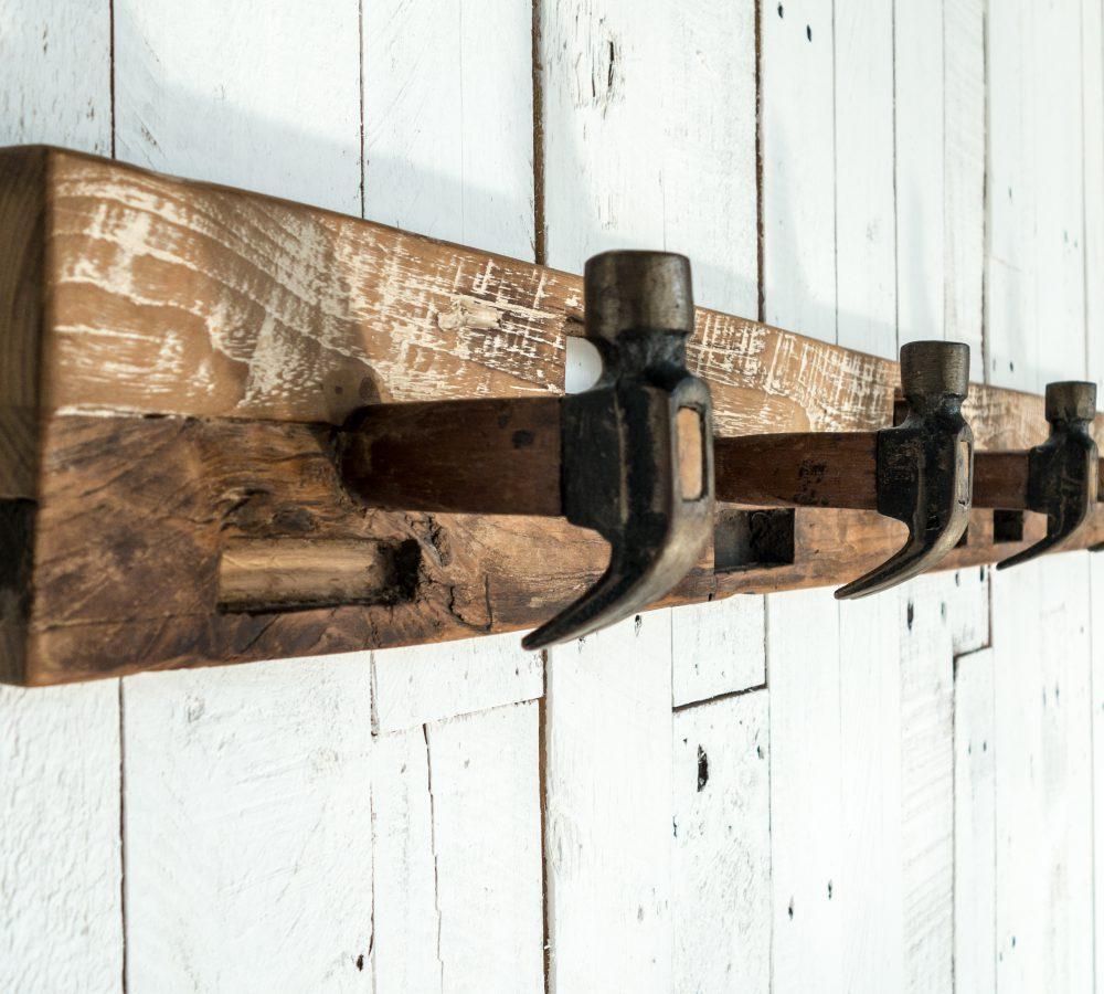 Reclaimed teak Hammer Coat Hanger