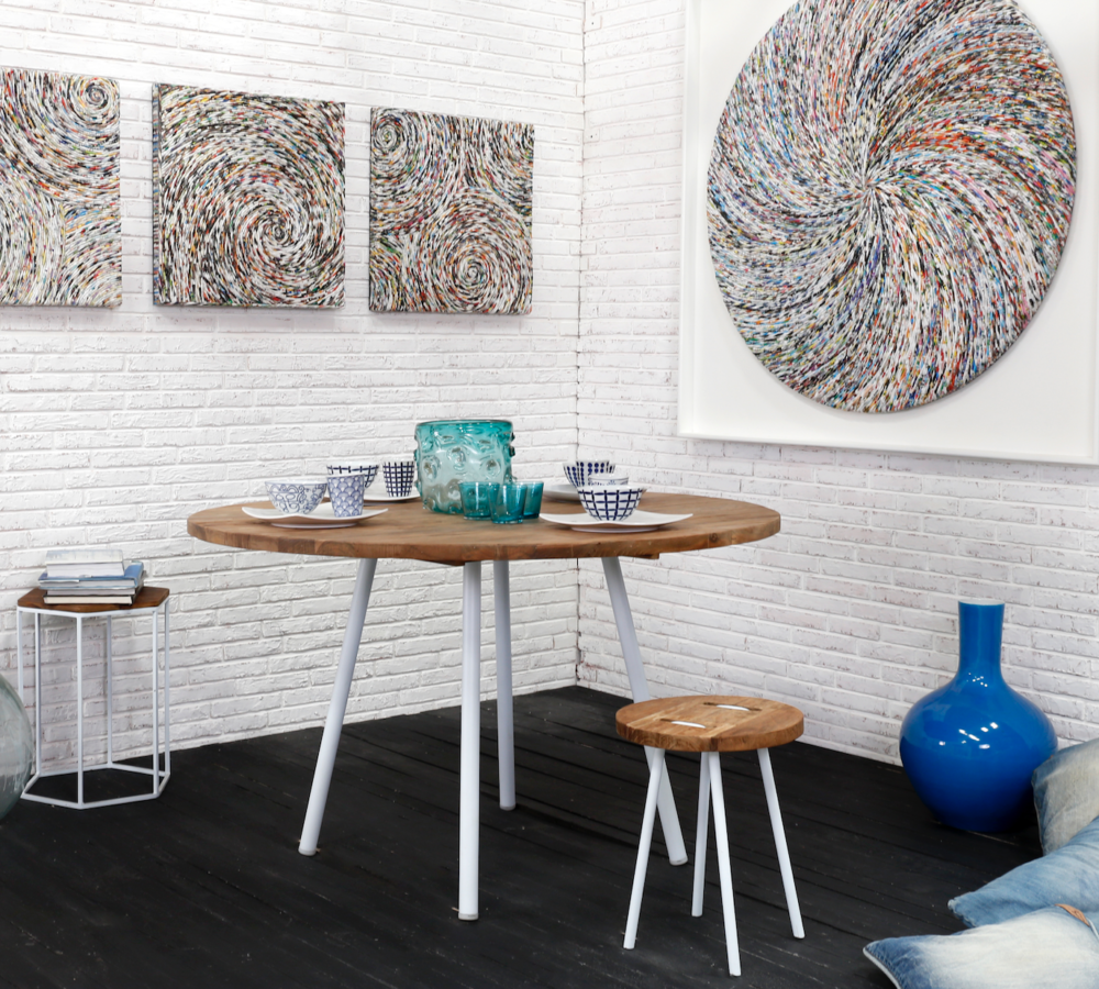 d-Bodhi Contour Round Dining Table