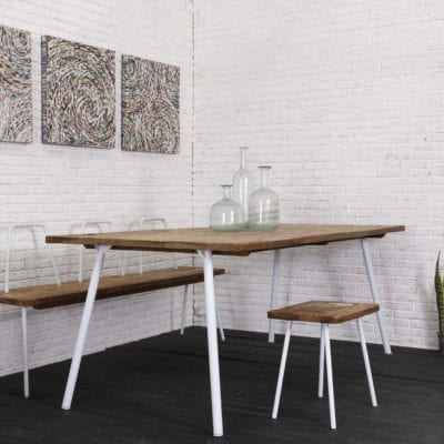 reclaimed teak CO dining table