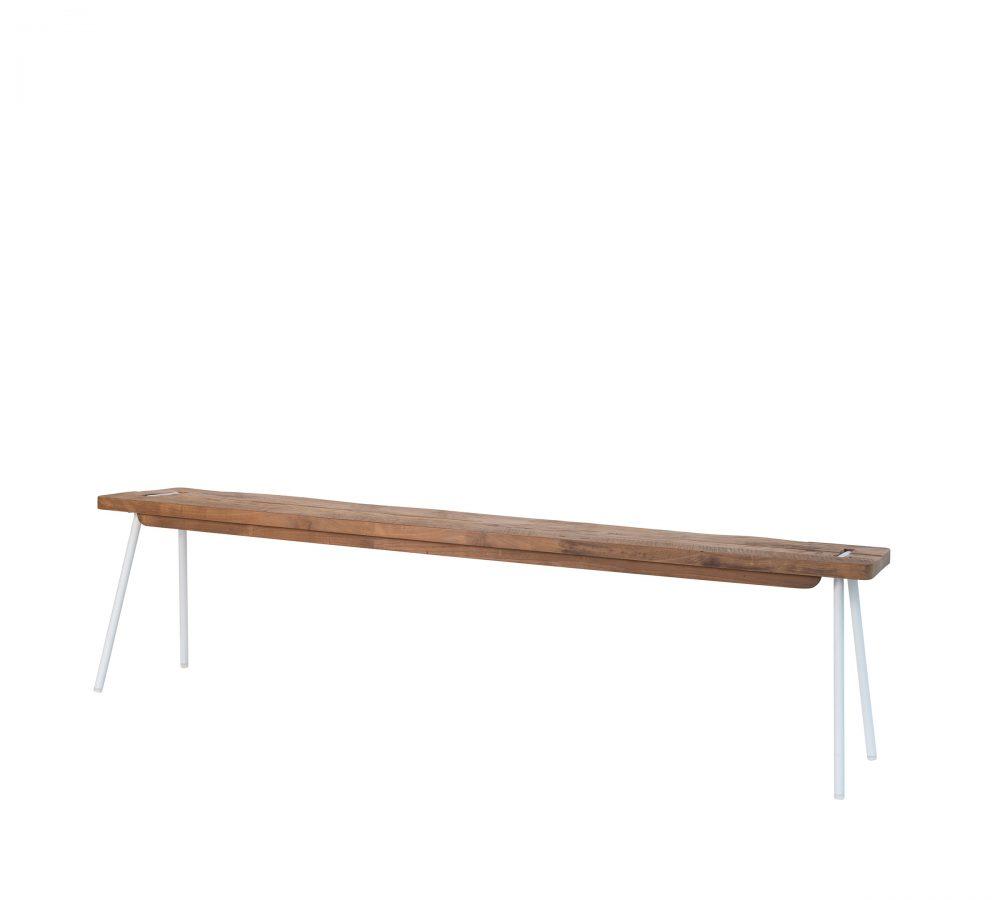 reclaimed teak Contour bench