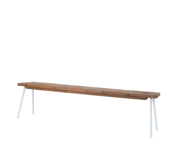 reclaimed teak Contour bench