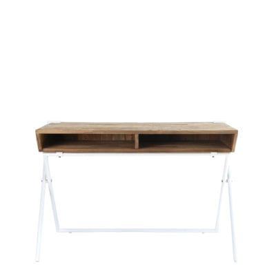 reclaimed teak desk