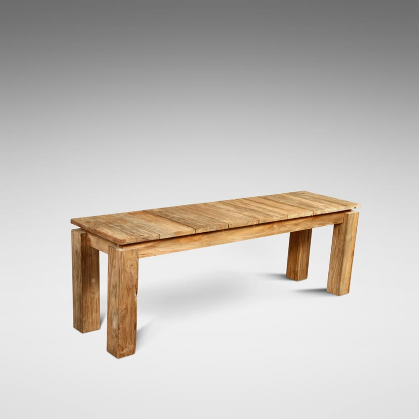 Reclaimed teak fortema bench blubambu Reclaimed wood furniture colorado