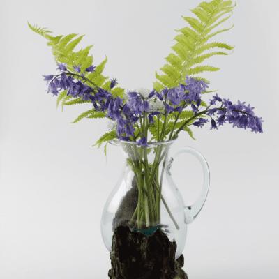 Handblown Glass Jug - Flowers