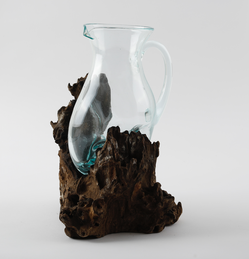 Glass Teak Root Jug Blubambu