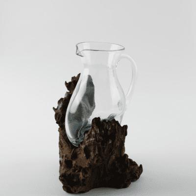 Handblwon Glass Jug.
