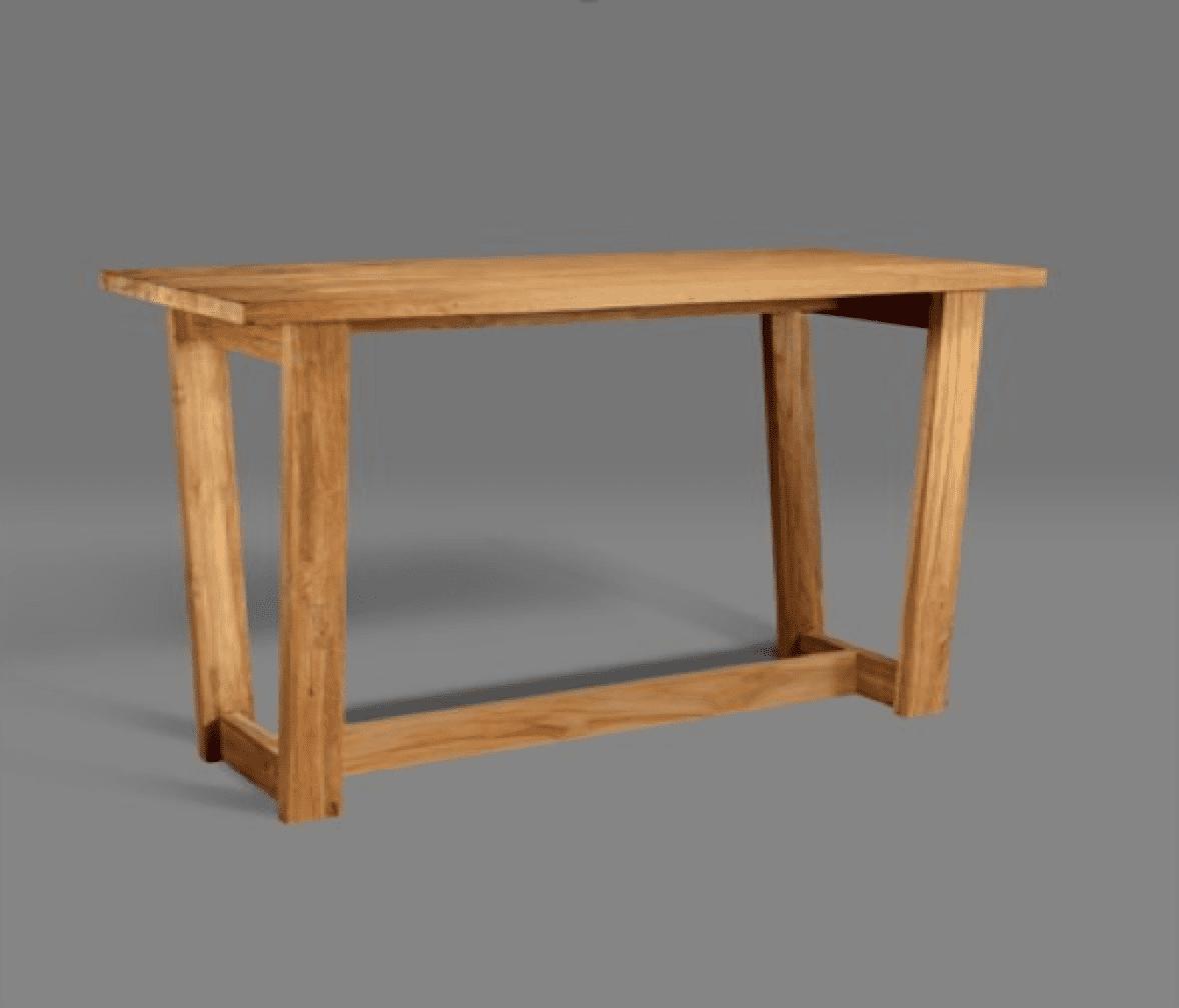 Reclaimed teak dona bar table • blubambu