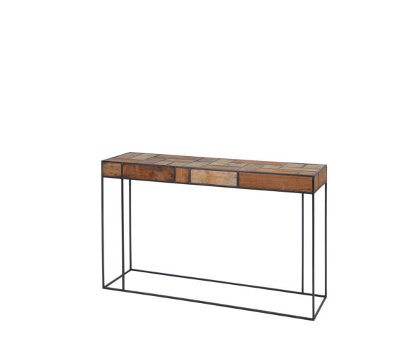 reclaimed teak Mondrian console table