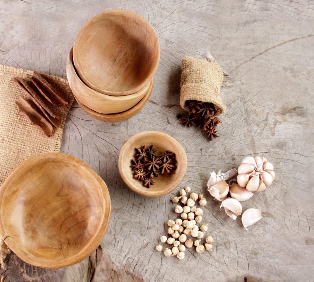 reclaimed teak rustic bowl
