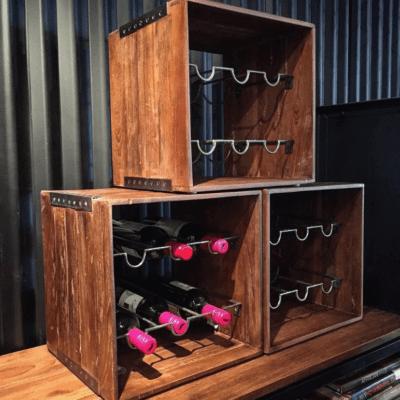 reclaimed teak wine box