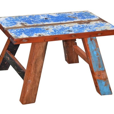 reclaimed boat wood bench rita L50