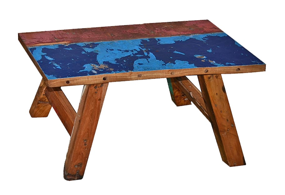 reclaimed boat wood bench rita L75