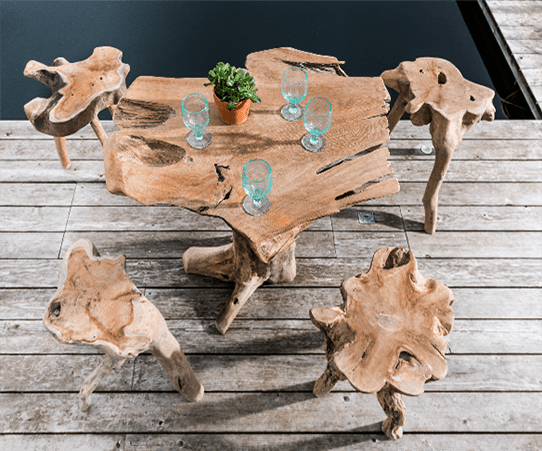 Natural-Leg-Teak-Root-Bar-Squid-Stools