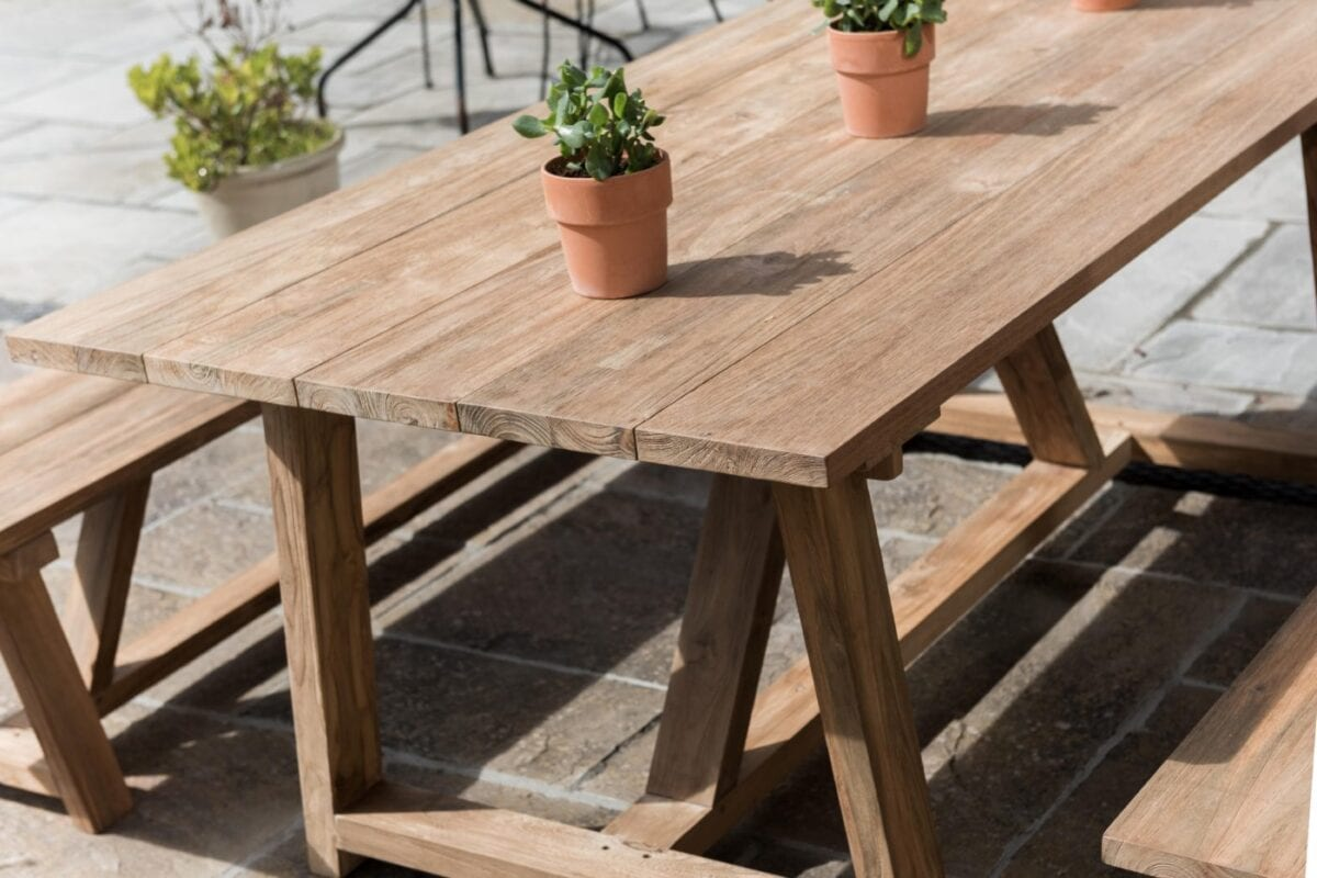Reclaimed teak andreas dining table