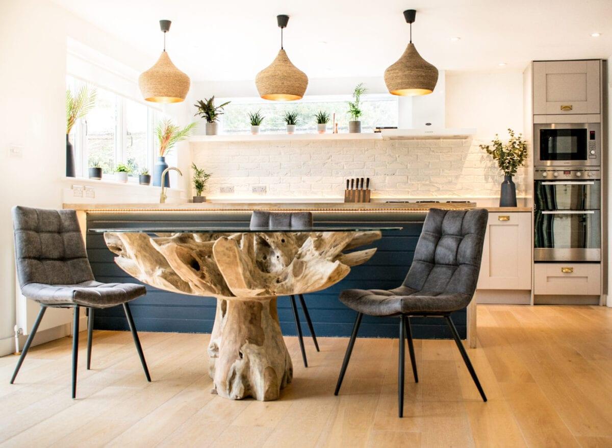 Teak Root Dining Table • BluBambu
