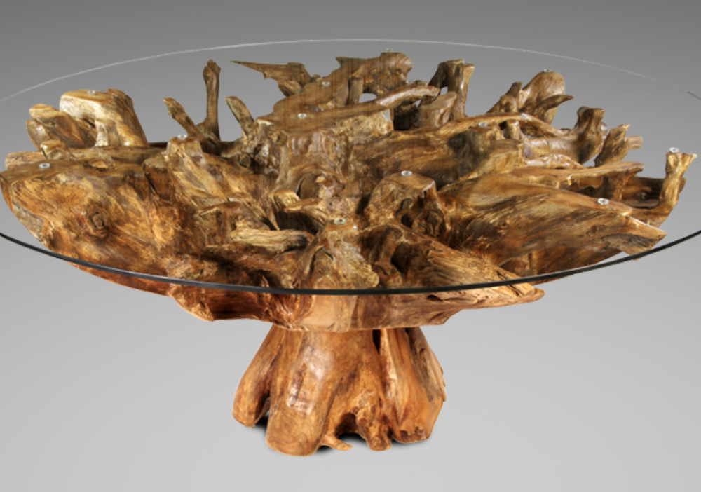 Teak Root Dining Table Blubambu