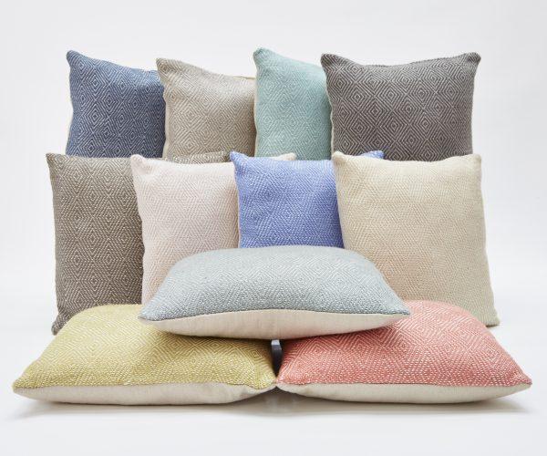 Weaver Green Diamond Cushions