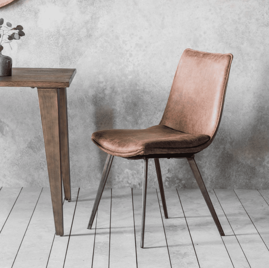 buy online 1f677 ada90 Sanur Faux Leather Dining Chair Brown