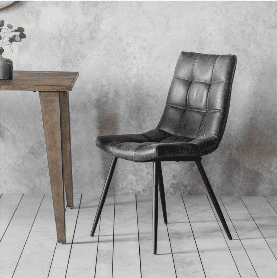 Fabulous Faux Leather Ubud Chair Grey Unemploymentrelief Wooden Chair Designs For Living Room Unemploymentrelieforg