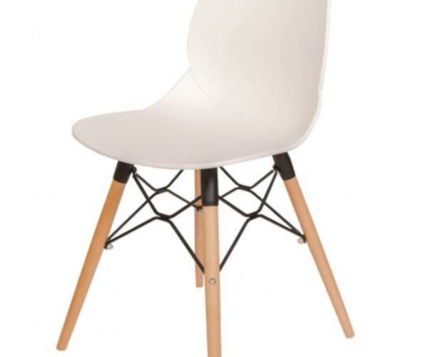Mas White Chair with Mas Base
