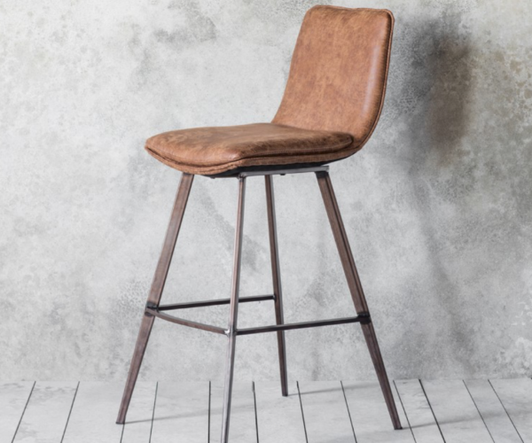Sanur Faux Leather Stool